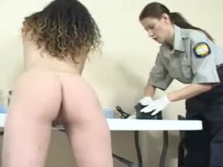 Long haired beauty has cavity search