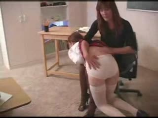 Young girl gets spanked in prison classroom (part one)