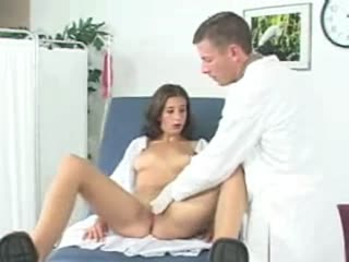 Hot young girl goes for gyno exam (part one)