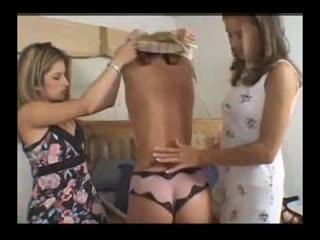 Three Girls Licking Butt