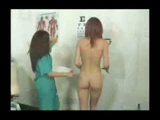 Perky Redhead Dr. Examination