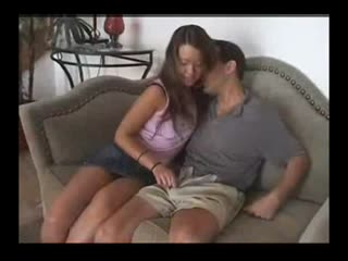 Oriental Girl Friend Gives Handjob