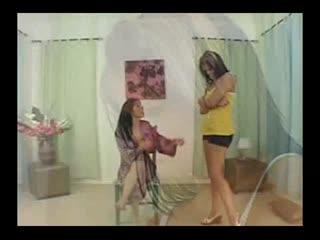 Veronica Rayne Spanks Mackenzie Pierce's Butt Reddish
