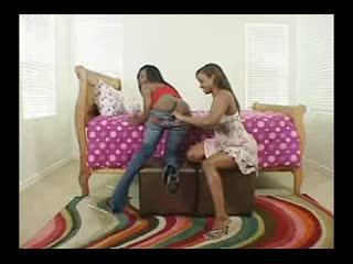 Two Hot Black Women Licking Butt