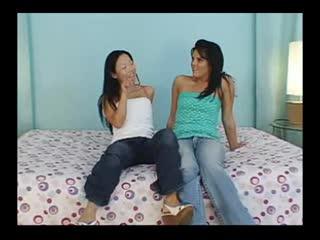 Hot Interracial Asian Butt Licking Scene