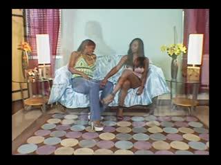 Two Lovely Black Girls Licking Butt