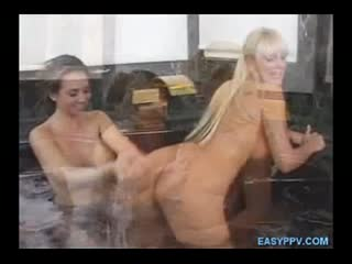 Hot Blond Gets Her Ass Licked In Jacuzzi