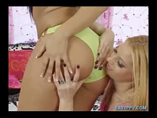 Hot Lesbian Interracial Butt Licking