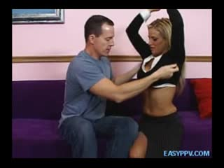 Super Hot Blond Girlfriend Gives Awesome Handjob