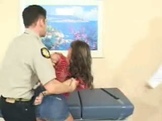 Feisty bitch gets her ass searched