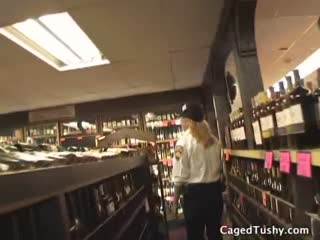 Busty shoplifter Mya gets sent to jail