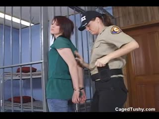 Natural redhead searched and caged