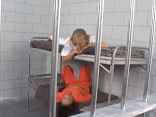 Sexy blonde inmate gets her ass examined