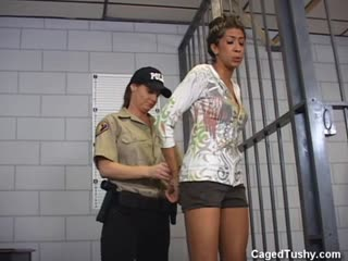 New ebony inmate roughly searched