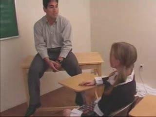 School Girl Gets Spanked By Teacher