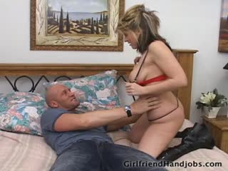 Girl Wakes Up Her Boy Friend To Give Him A Blow Job and Hand Job