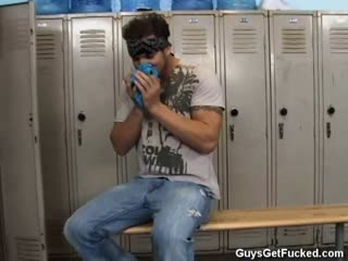 Guy Caught In Female Locker Room Gets Taught A Strapon Lesson
