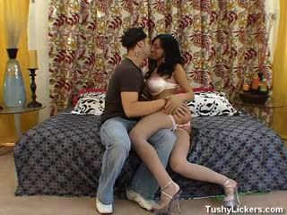 Making Out on The bed and Ass Licked
