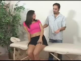 Lucky Guy Gets To Massage Hot Girl