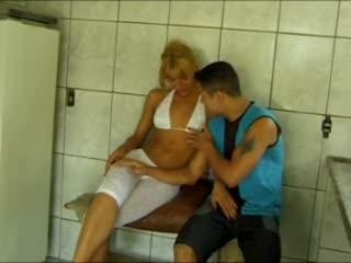 Shemale Jerks Off Guy In Public Restroom
