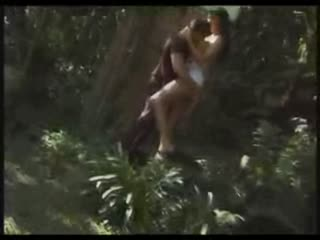 Tall Hot Feminine Shemale Sex In the Woods