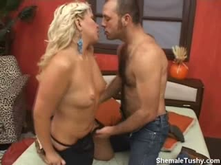 Blonde Sucks Big Cock