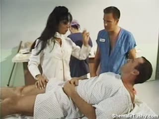 Shemale Doctor Surprises Her Patient With A  Blow Job