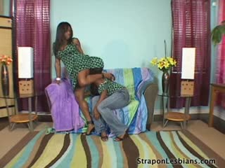 Lesbian Black Girl Rips Of Her Girl Friends Clothes -Strapon Sex