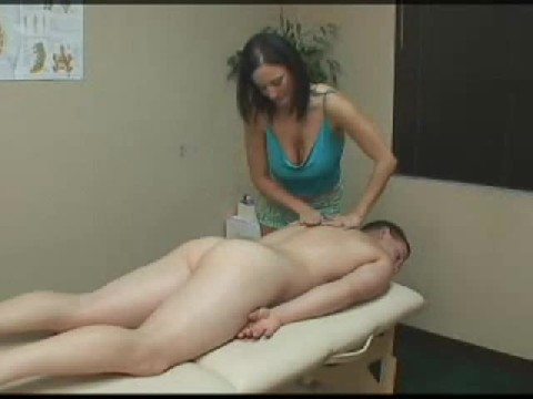 Guy Gets Oily Massage And Pegged By Female Masseuse