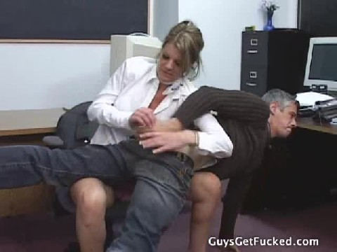 Guys Ass Spanked Very Hard By Femdom And Fucked With Strapon