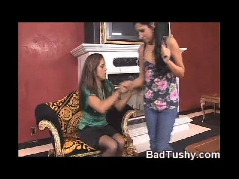 Mom Spanks Young Daughter Over Her Knee For Getting Naked On Cam