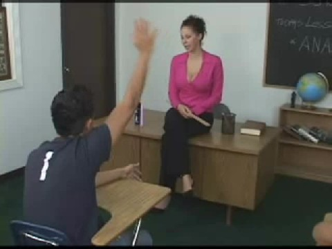 Guy Gets a diildo stuck in his ass  Classroom by Sexy Teacher