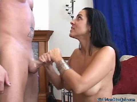On Her Knees Giving Her Boy Friend a Blow Job