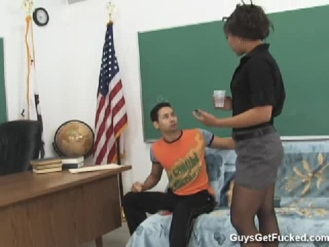 Dominant Black Teacher Fucks Her Sub Student In Class