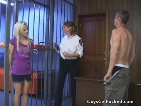 Female Dominant Prison Guard Strip Searches Male and Female And Gives Guy a Cavity Check