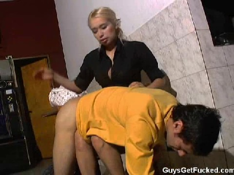 French Hot Girl Spanks her Boy Friends Ass and Takes out her Strap-on