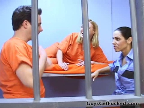 Female Guard Fucks Inmate In Front of Other Girl