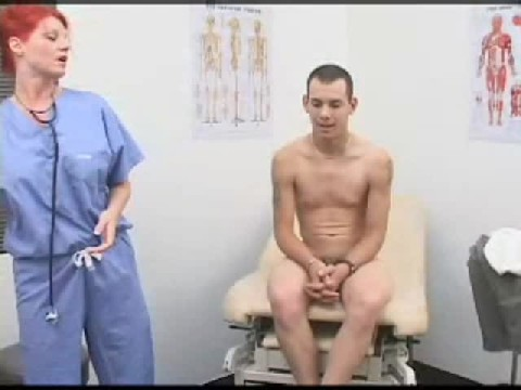 FemDom Doctor Examines Guys Ass With Her Dildo